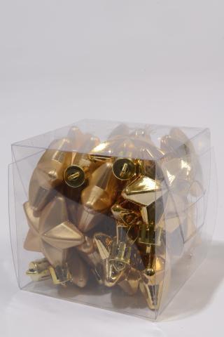 sternen gold 4cm im 24er set aus kunststoff shop. Black Bedroom Furniture Sets. Home Design Ideas