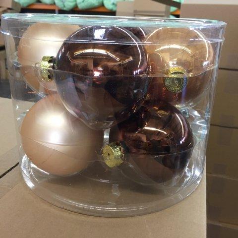 Christbaumkugeln Cappuccino.8 Weihnachtskugeln Cappuccino Mix 8 Cm