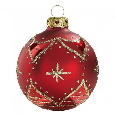 zarenfenster christbaumkugeln 7cm rot gold handdekoriert. Black Bedroom Furniture Sets. Home Design Ideas