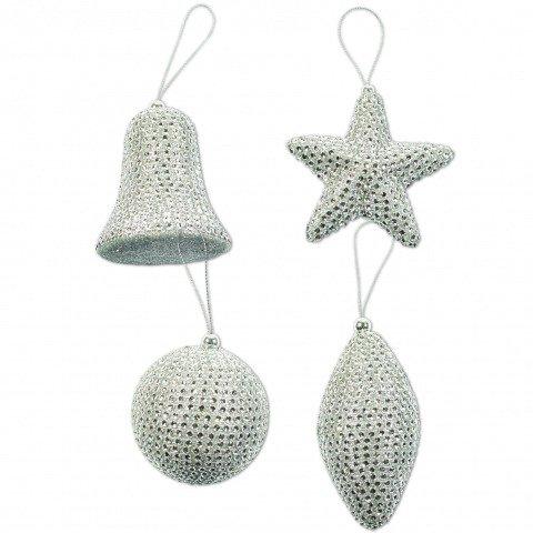 Dekoanhanger Silber Glocke Stern Kugel Zapfen Shop Weihnachtskugeln De