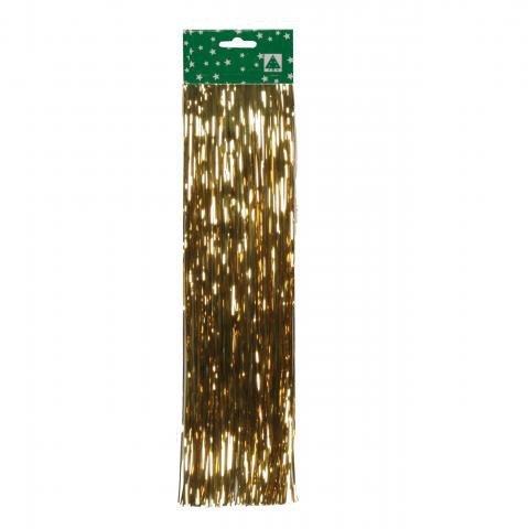 Weihnachtsdeko Lametta.Folien Lametta Gold 48cm