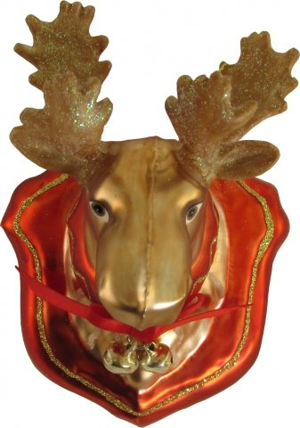 Jagdtrophae Elch 9cm Glas Shop Weihnachtskugeln De