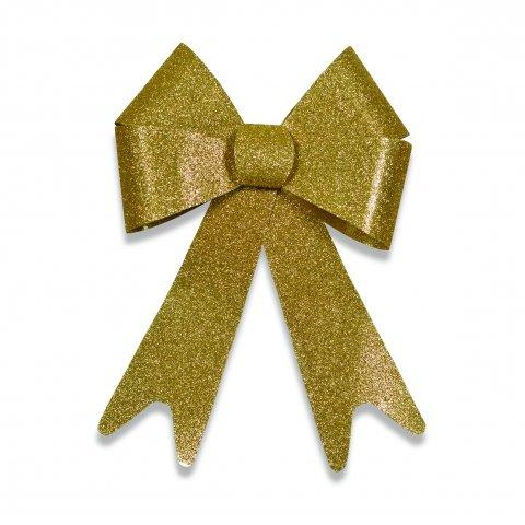 Kunststoffschleife Mit Gold Glitter Oberflache Shop