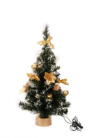 Dekorativer weihnachtsbaum aus kunststoff 60 cm mit 10 lichtern und anderem weihnachtschmuck - Dekorierter weihnachtsbaum ...