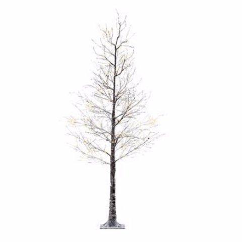Led Weihnachtsbeleuchtung Baum.Beschneiter Led Baum 125cm Warm Weiß