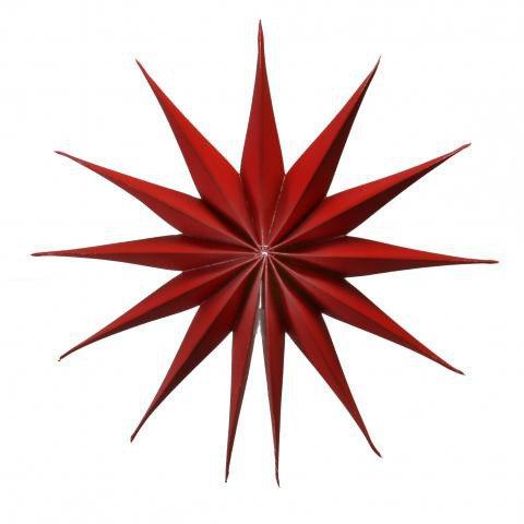 Dekorativer faltstern in rot aus papier hergestellt 40 cm shop - Stern weihnachtsbaumspitze ...