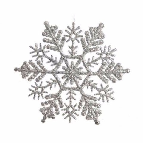 Silberne Schneeflocke im 8er Set, 10cm | shop-weihnachtskugeln.de