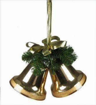 sch ne weihnachtsglocken aus kunststoff 16cm in gold. Black Bedroom Furniture Sets. Home Design Ideas