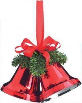 weihnachtsglocken aus kunststoff rot shop. Black Bedroom Furniture Sets. Home Design Ideas