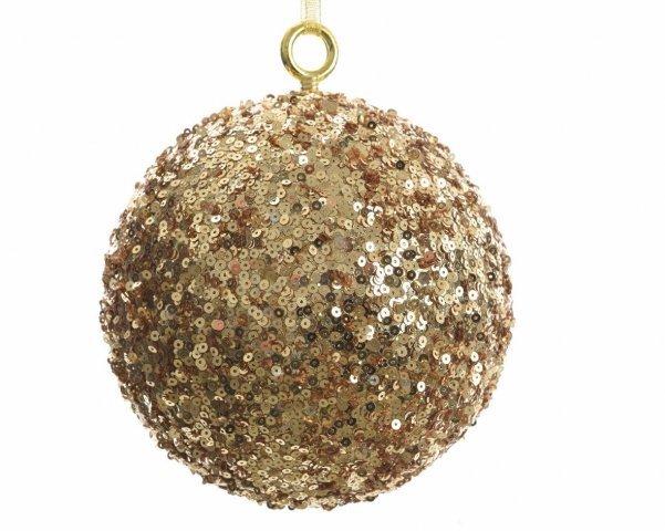 weihnachtskugel mit pailletten gold 14cm durchmesser shop. Black Bedroom Furniture Sets. Home Design Ideas