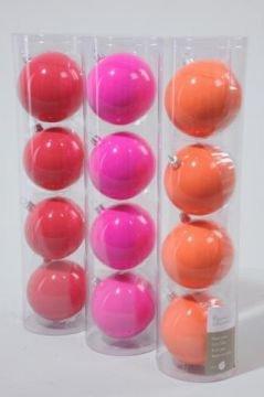 4er set weihnachtskugeln neon aus glas und wunderbar. Black Bedroom Furniture Sets. Home Design Ideas