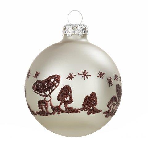 Christbaumkugeln pilzwald elfenbein 7cm siebdruck shop - Weihnachtskugeln cappuccino ...