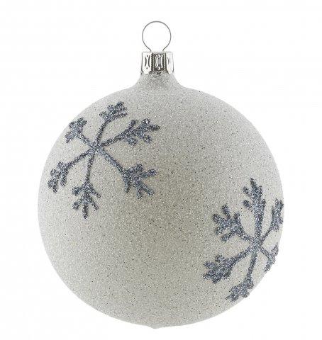 christbaumkugeln anthrazit besandet mit schneeflocken. Black Bedroom Furniture Sets. Home Design Ideas