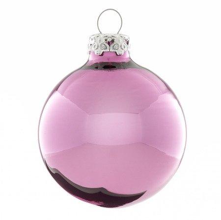 zartrosa weihnachtskugeln aus glas 6er set 6cm gl nzend. Black Bedroom Furniture Sets. Home Design Ideas