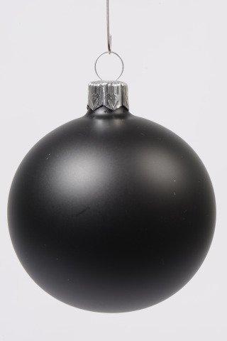 gro e 15cm glaskugel in schwarz matt shop. Black Bedroom Furniture Sets. Home Design Ideas