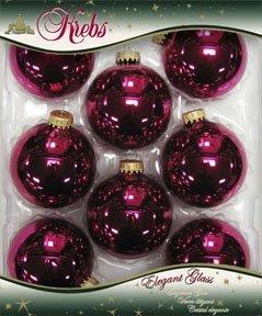 weihnachtskugeln himbeerrot glanz 7cm 8er set glas shop. Black Bedroom Furniture Sets. Home Design Ideas