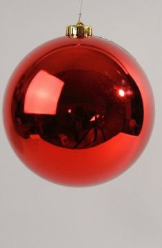 Weihnachtsdeko Kugeln Groß.Kunststoffkugel Groß Rot 25cm