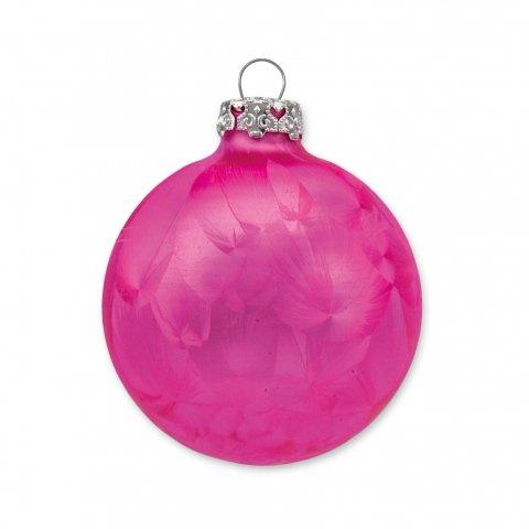 Weihnachtskugel eislack in pink 6cm shop for Pinke weihnachtskugeln