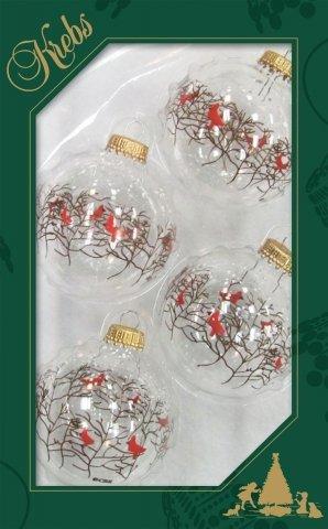 weihnachtskugeln transparent v gel zweige 7cm 4er set. Black Bedroom Furniture Sets. Home Design Ideas