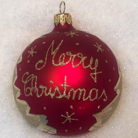 Weihnachtskugeln Rot Gold.Weihnachtskugeln Weihnachtsbaum Rot Gold Glas 8cm 6er Set