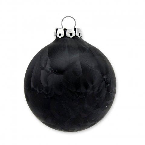 weihnachtskugel eislack 8cm schwarz shop. Black Bedroom Furniture Sets. Home Design Ideas