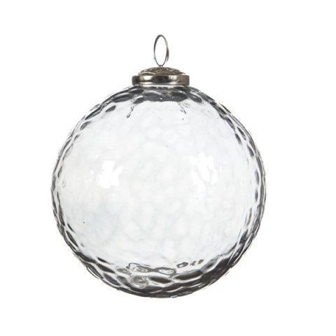 Christbaumkugeln Glas Transparent.Weihnachtskugel Gehammert Transparent 15cm