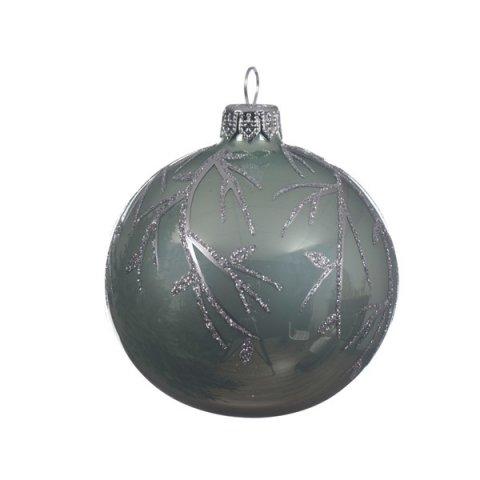 weihnachtskugel zweige eukalyptus glas 8cm 6er set shop. Black Bedroom Furniture Sets. Home Design Ideas
