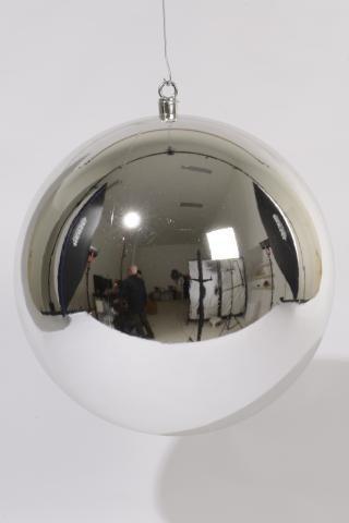 Weihnachtskugeln Xxl.Xxl Weihnachtskugel Kunststoff Silber 40cm