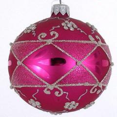 Weihnachtskugeln rosa pink lila christbaumkugeln for Weihnachtskugeln altrosa