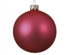 Christbaumschmuck Glaskugel Flashingpink matt 10 cm 4er Set