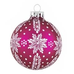 Weihnachtskugel pink christbaumkugeln lila shop for Christbaumkugeln lila silber