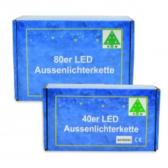 80iger LED-Lichterkette warmweiß
