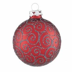 Große Rote Christbaumkugeln.7 Cm Christbaumkugel Set Im Renaissance Stil In Rot