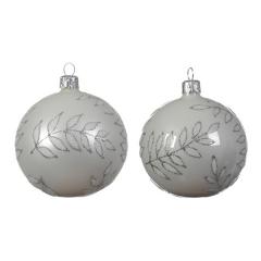 Christbaumkugeln Weiß Glas.Weihnachtskugeln Weiß Schwarze Christbaumkugeln Shop