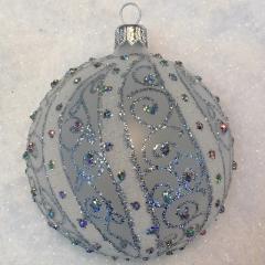 Weihnachtskugeln Weiß Silber.Weihnachtskugeln Silber Christbaumkugeln Champagner Shop