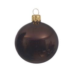 Braune Christbaumkugeln.Weihnachtskugeln Braun Broncefarbene Christbaumkugeln